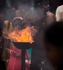 At Naga Pooshani Amman Kovil Temple (JoshyWindsor) Tags: holiday smoke flames burning srilanka hinduism jaffna canoneos6d canonef70300mmf456l nainativuisland nagapooshaniammankoviltemple