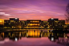 ADTRAN Sunset in HDR (belknet) Tags: longexposure bridge sunset sky color water night reflections lights twilight nikon flickr huntsville outdoor dusk alabama 100v10f hdr adtran 2016 d3300