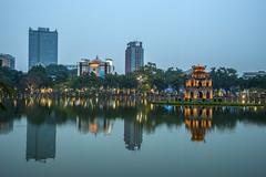 Across the Hoan Kiem Lake (tatlmt) Tags: night photography asia vietnam hanoi turtleisland hoankiemlake