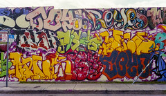 Wynwood (JoeBenjamin) Tags: street ltm color art film cn 35mm canon graffiti mural paint downtown fuji florida miami superia tag voigtlander bessa rangefinder tags spray negative 400 fujifilm fl spraypaint f2 walls r3a fisk reyes combo c41 havok wynwood goy comination icantreadthisfriggintags