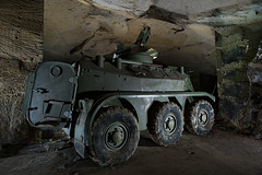 Vhicule blind Panhard (flallier) Tags: underground tank limestone char quarry arme panhard carrire souterraine vhicule tourelle blind vbl basemilitaire
