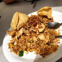 Smashing chicken nasi goreng for lunch at Wallabies Thai in Mascot