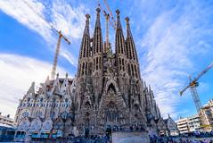 Baslica de la Sagrada Famlia (Sharky.pics) Tags: barcelona city travel urban architecture spain europe catalonia catalunya es february 2016 baslicadelasagradafamlia