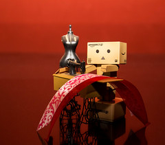 Danbo's Sewing Project (10/52) (vmabney) Tags: red toys sewing danbo 52week danboard giveusyourbestshot 522016week10