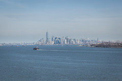 Manhattan Skyline (Erin Cadigan Photography) Tags: city nyc newyorkcity urban newyork building tourism water horizontal skyline architecture river island harbor daylight cityscape view manhattan worldtradecenter borough daytime wtc hudson statenisland freedomtower fortwadsworth