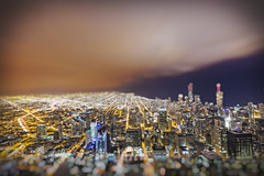 I'll Take My City With Sparkles (Seor Codo) Tags: city chicago skyline architecture highrise dreamy aura highrises skyscapers tiltshift