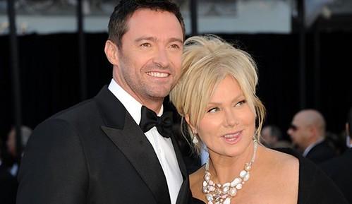Фото Хью Джекман с женой