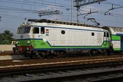 """2008-04-24, FNM, Saronno, E 620 03 """"Tigrotto"""" (Fototak) Tags: italy train eisenbahn railway locomotive treno fnm 62003 tigrotto e620"""