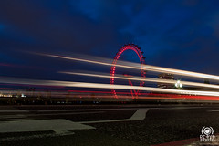 London Eye (andrea.prave) Tags: uk longexposure bridge light england london luz westminster thames night noche nacht lumire londonbynight londoneye londres londra notte luce inghilterra  tamigi     lightstream