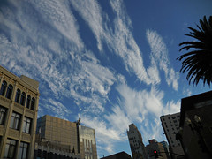 cloud pattern (kenjet) Tags: california city blue sky cloud building weather architecture clouds buildings oakland day pattern view bluesky