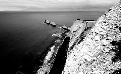 the Needles (plot19) Tags: uk sea england blackandwhite white black english landscape island photography islands coast blackwhite britain sony south limestone british needles isle isles rx100 plot19
