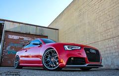 Audi RS5 (scott597) Tags: street ohio red suspension market wheels 2nd graffitti second audi bbs dayton kw quattro rs5