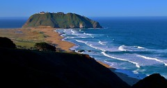 Point Sur Surrounded By Blue (Michael T. Morales) Tags: ocean sea highwayone waves bigsur pch pointsur