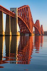 HD Bridge (Tom_Drysdale) Tags: morning bridge light moon set train edinburgh fuji south forth april moonset queensferry 2016