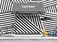 The Wynwood Building (Travis Estell) Tags: art graffiti florida miami publicart southflorida selectivecolor selectivecolour wynwood miamidadecounty wynwoodartdistrict geometricgraffiti nw3rdavenue thewynwoodbuilding