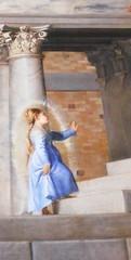 Presentazione di Maria al Tempio (Tiziano) (zambi74) Tags: italy italia maria venezia galleria olio tela tempio accademia tiziano presentazione leggendaaurea presentazionedimariaaltempiotiziano