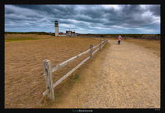 Lighthouse to the Storm (Ilan Shacham) Tags: pink winter light woman lighthouse storm landscape view capecod massachusetts fineart scenic highland fineartphotography highlandlighthouse