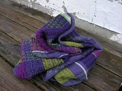 waffle weave shawl (sandySTC) Tags: green wool sock purple dove plum yarn shawl stroll ashford weave waffle loom handwoven rigid heddle