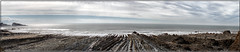 Welcombe Mouth Beach Pano (Boba Fett3) Tags: sea seascape beach water outside outdoors coast seaside rocks waves panoramic devon coastline rugged photostitch westcountry northdevon