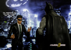 The Office (Lyarks) Tags: robin toy toys photography dc funny suits icons action bruce wayne humor jokes figure batman legends knight shield marvellegends dccomics superheroes marvel figures darkknight batsignal superfriends starks boywonder arkham dickgrayson marvelvsdc dcdirect timdrake realhword superdayoff