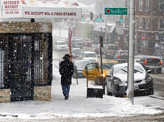 urban cowboy (t55z) Tags: street snow massachusetts cowboyhat worcester