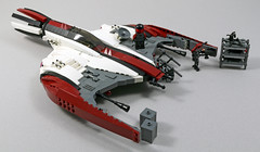 S20 Vulture Starfighter (2:STUDS) Tags: infantry robot ship lego space military helicopter walker futuristic speeder mech hovercraft drone defenses starfighter