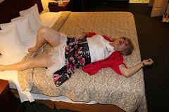 new116674-IMG_5303t (Misscherieamor) Tags: tv transformation feminine cd femme motel tgirl transgender mature sissy tranny transvestite crossdress ts gurl tg travestis travesti travestido travestie m2f onbed stockingtops xdresser tgurl traviesa travestito slipshowing printskirt travestit silkbowblouse