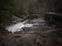 The sinks waterfall (glassman787) Tags: longexposure waterfall whitewater bridges smokeymountians sinkswaterfall