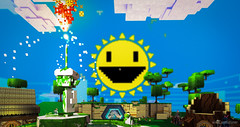 Moto (brian.mwit) Tags: games videogames 8bit gamephotography gw2 guildwars2 minecraft superadventurebox gw2sab