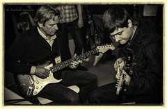 guitarists (Lyutik966) Tags: people musician man hand guitar moscow exhibition melody sound string guitarist namm