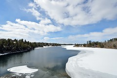 Lake_of_the_Woods3 (l i v e l t r a) Tags: blue sky mountain lake ontario canada ice water landscape flow woods bright outdoor sunny serene northern narrows kenora coniferous sioux