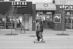 102/366 (local paparazzi (isthmusportrait.com)) Tags: street people blackandwhite white motion black detail blancoynegro blanco contrast eos 50mm prime pod aperture downtown raw skateboarding action f14 negro grain clarity warp skaters skate usm madisonwi noise ef iso1600 f40 warpspeed sharpness 2016 50mmf14usm danecountywisconsin 366project canon5dmarkii localpaparazzi redskyrocketman lopaps isthmusportrait