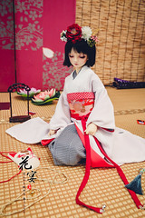 One-off kimono set for 1/3 (Evey.Y) Tags: doll haruka kimono bjd superdollfie volks tae swd sd13 harukadollhouse