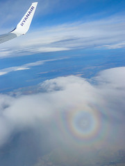 Sundog (murphy197) Tags: sky clouds flight ryanair sundog