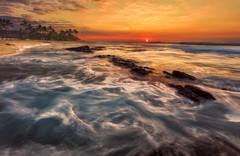 Seasonal Magic (shanahanphotography) Tags: resort sand landscape winter beauty hawaii orange waves beach cpl beautiful frothy chaotic pacific ocean fourseasons bigisland sunset