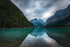 Kinney Lake, British Columbia (Explore - Best Position #3 -  April 19, 2016) (B.E.K.) Tags: park longexposure sky mountain lake reflection water clouds landscape outdoor columbia mount explore robson british tranquil provincial kinney nikon173528 nikond600
