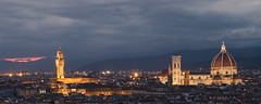 Florence Cityscape (Enzymatic RXN) Tags: city travel sunset sky italy clouds landscape florence italia cityscape firenze fujifilm duomo xe1