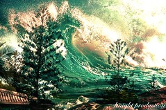 The tidal wave (... Knight Production ...) Tags: roof green contrast weird waves rooftops surreal cable pines scarey knight production unusual tidal pinetrees tidalwave greenwaves hooptrees thetidalwave cableknight knightproduction knightthetidalwave