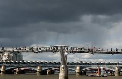 Not Purple Rain Falling On The River Thames River (cocabeenslinky) Tags: city uk bridge england people black london rain thames clouds river walking lumix photography sticks purple photos g united capital kingdom millenium stormy east panasonic falling end april blackfriars across wobbly eastend selfie on the 2016 vario not dmcg6 cocabeenslinky wiblly
