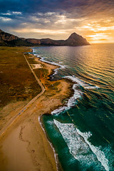 Aerial Beach (Lumen Art Images) Tags: sunset beach sicily aerialphotography trapani drone sanvitolocapo aeri