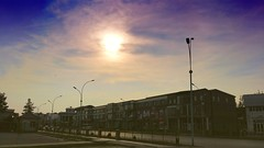 7:15 am. Almost no one in the street. # # # # # # #Spring #Morning #Sky #Clouds #Sun (igorpo91) Tags: morning sky sun clouds spring