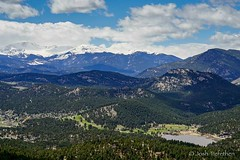 Evergreen Lake and Mount Evans are looking pretty good...The snow is melting quickly and things are starting to look like spring again here! (JoshTrefethen.com) Tags: lake snow look is evans spring melting pretty looking like things here mount again evergreen quickly starting goodthe