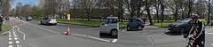 Stunted cars: easy to park (Reinardina) Tags: england panorama sunshine fun cyclist traffic hampshire southampton opticaleffect homour theavenue stunted easyparking stuntedcars