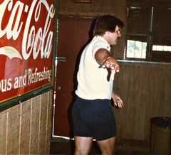 Hutley's. August 1983. Being dismissed! (BruceLorenz) Tags: street new york ny st bar island pub long main tavern 1984 eighties 1980s 501 islip theeighties hutleys