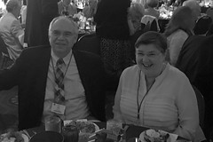 """Club member Bob and his wife Heather Monroe enjoying the Governor's Banquet at the 2016 District Conference.Photo credits: Ed SmallwoodMore information: <a href=""""http://northraleighrotary.org/2016-district-conference"""" rel=""""nofollow"""">northraleighrotary.org/2016-district-conference</a>"""