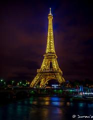 When night is in full beauty ... (Imran's) Tags: longexposure paris tourism night eiffeltower eiffel toureiffel parijs parisfrance eiffeltour toureifel lowiso