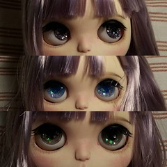 Handmade eyechips for Blythe preview (Nina's Doll *MAKEUP COMMISSION CLOSED*) Tags: eye mouth nose eyes mod doll factory handmade ooak makeup chips blythe freckles tbl takara eyelid tomy sculpted modded sculpting sculpt faceup eyechips modd