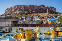Jodhpur The Blue City | Rajasthan | India (Hadi Zaher) Tags: city travel blue india castle restaurant cafe view fort outdoor hill lookout rajasthan jodhpur mehrangarh mehrgarh