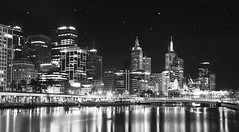 Very rarely do the stars come out in a place like this. (Roy Mcgavin) Tags: city blackandwhite canon lights melbourne