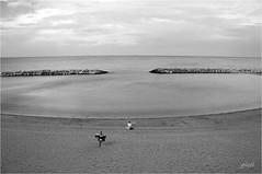 parallel with nature (gicol) Tags: summer costa beach marina mediterraneo mare br estate horizon playa verano spiaggia vacanza lido sabbia conca adriatico brindisi orizzonte torresangennaro campodimare